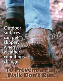 To Prevent a Fall, Walk Don't Run Poster