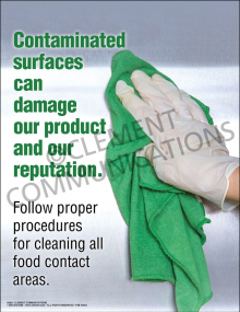 Contaminated Surfaces Poster