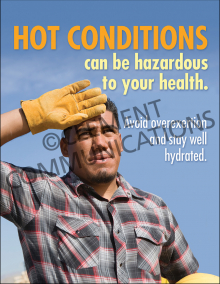 Hot Conditions Can Be Hazardous To Your Health Poster