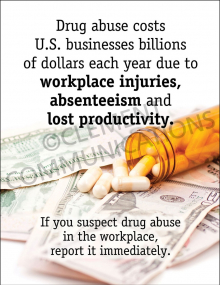 Drug Abuse Costs Poster