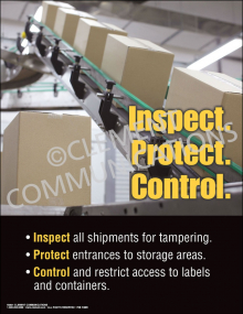 Inspect, Protect, Control Poster