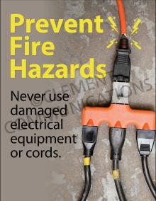 Prevent Fire Hazards Posters