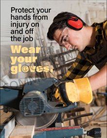 Protect Your Hands From Injury Poster