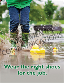 Right Shoes For The Job Poster