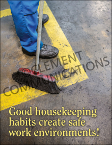 Good Housekeeping Habits Poster