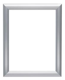"8.5"" x 11"" Silver Snap-Open Aluminum Poster Frame"