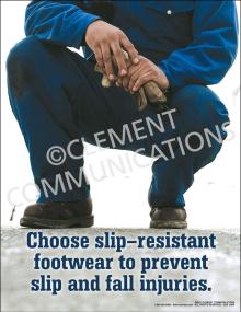 Choose Slip-resistant Footwear Poster