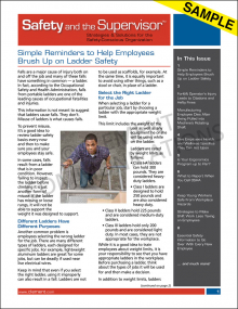 Safety And The Supervisor® Newsletter - Electronic