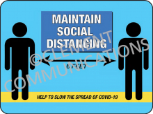 Maintain Social Distancing - Indoor Sign