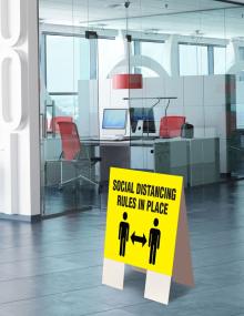 Social Distance Indoor Floor Sign