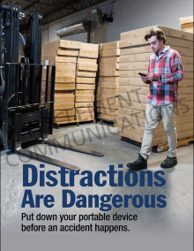 Distractions Are Dangerous Poster