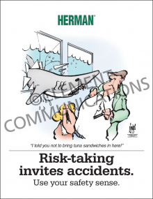 Risk-taking Invites Accidents Poster