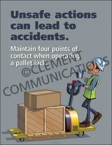 Unsafe Actions Can Lead To Accidents Poster