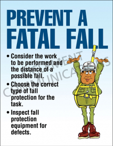 Prevent a Fatal Fall Poster