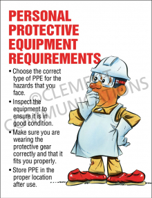PPE Requirements Poster