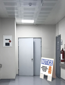 Wear Vest Indoor Floor Sign