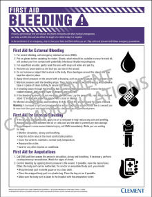 First Aid - Bleeding Poster