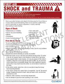 First Aid - Shock and Trauma Poster