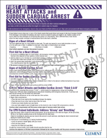 First Aid - Heart Attacks and Sudden Cardiac Arrest Poster