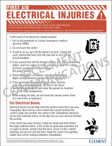 First Aid - Electrical Injuries Poster
