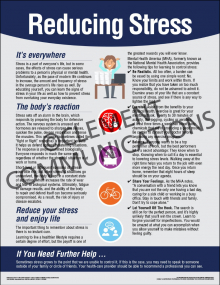 Health and Wellness - Reducing Stress Poster