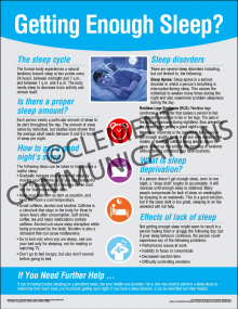 Health and Wellness - Getting Enough Sleep Poster