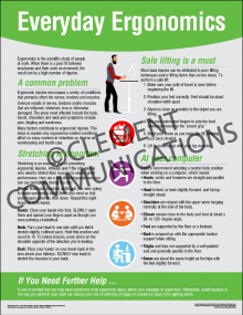 Health and Wellness - Everyday Ergonomics Poster