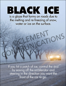 Winter Hazards - Black Ice - Poster