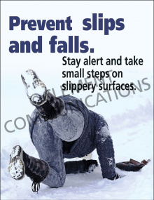 Winter Hazards - Prevent Slips and Falls - Poster
