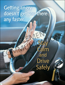 Winter Hazards - Aggressive Driving - Poster