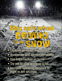 Winter Hazards - Driving in the Snow - Poster