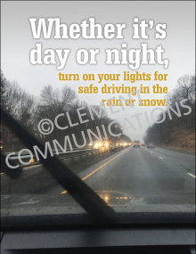 Winter Hazards - Turn On Lights - Poster