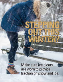 Winter Hazards - Ice Cleats - Poster