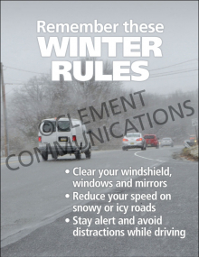 Winter Hazards - Winter Rules - Poster