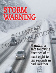 Winter Hazards - StormWarning - Poster