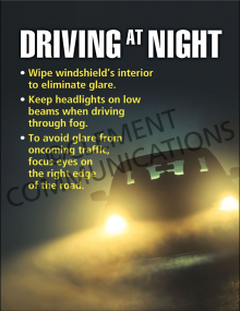 Winter Hazards - Night Driving - Poster