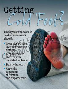 Winter Hazards - Frostbite - Poster