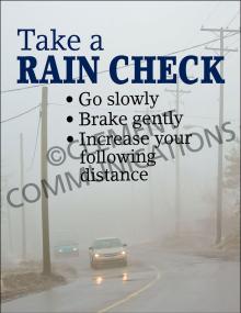 Winter Hazards - Rain Check - Poster