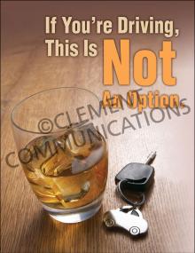 Winter Hazards - Drunk Driving - Poster