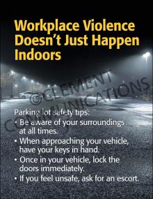 Winter Hazards - Parking Lot Safety - Poster