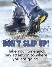 Winter Hazards - Don't Slip Up - Poster