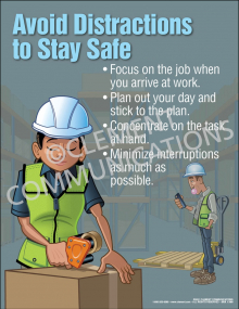 Distractions - Stay Safe Poster
