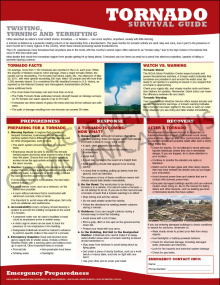Emergency Preparedness Poster: Tornado Survival Guide