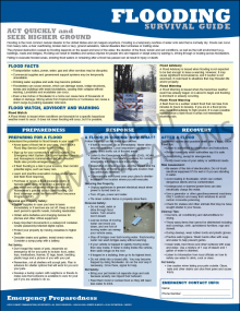 Emergency Preparedness Poster: Flooding Survival Guide