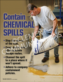 Contain Chemical Spills Poster
