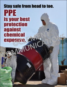 PPE is Your Best Protection Against Chemical Exposure Poster