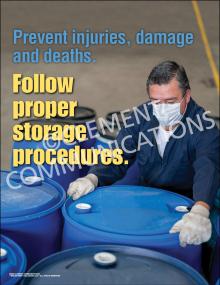 Follow Proper Storage Procedures Poster
