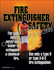 Fire Extinguisher Safety Poster