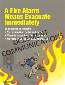 A Fire Alarm Means Poster