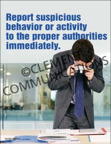 Report Suspicious Behavior Poster